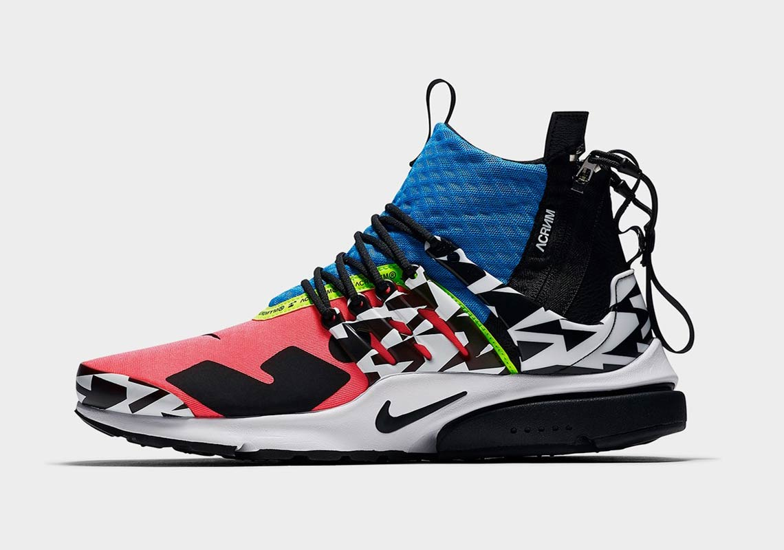 purchase cheap eb3ca 88743 ACRONYM x Nike Air Presto Mid Release Date September 20, 2018 200. Color  Racer PinkBlackPhoto BlueWhite Style Code AH7832-600