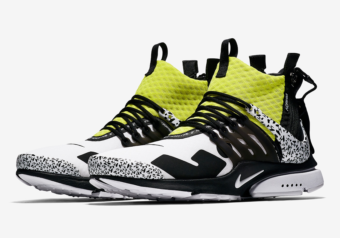 sports shoes 94c06 5b6c1 ACRONYM x Nike Presto Mid Release Date September 20th, 2018 200. Style  Code AH7832-001. Style Code AH7832-100