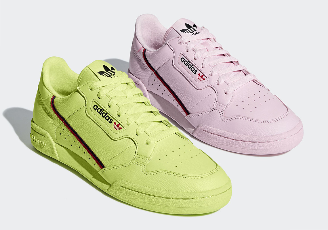 best service 1ea46 5b209 The adidas Continental 80 Dropped In Semi-Frozen Yellow And Clear Pink  Colorways