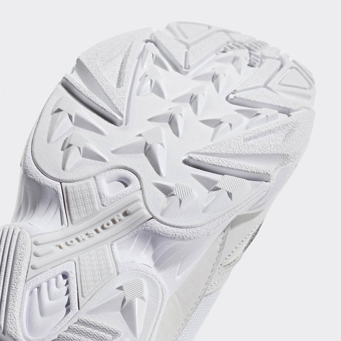 detailed look 04cab c34df adidas Falcon Triple White B28128 Release Info  SneakerNews.