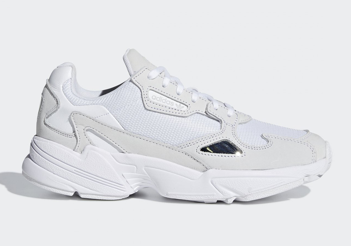 new style 6772f 282c1 The adidas Falcon Is Releasing In Triple White
