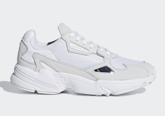 The adidas Falcon Is Releasing In Triple White