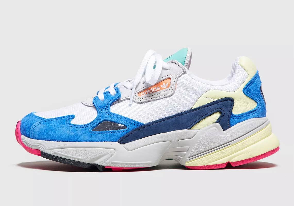 falcon white blue adidas