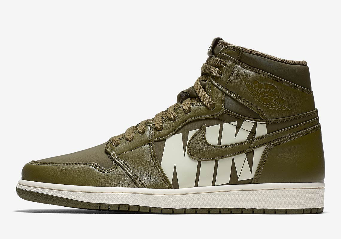 b0bfdba35375b9 Air Jordan 1 Retro High OG Olive Canvas 555088-300 Release Info ...