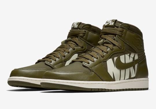 "Official Images Of The Air Jordan 1 Retro High OG ""Olive Canvas"""