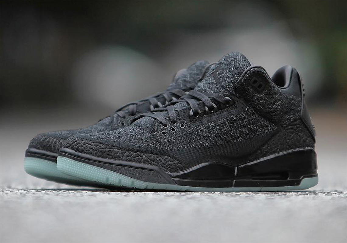 589f1ef8214327 Up Close With the Air Jordan 3 Flyknit With Glow In The Dark Soles