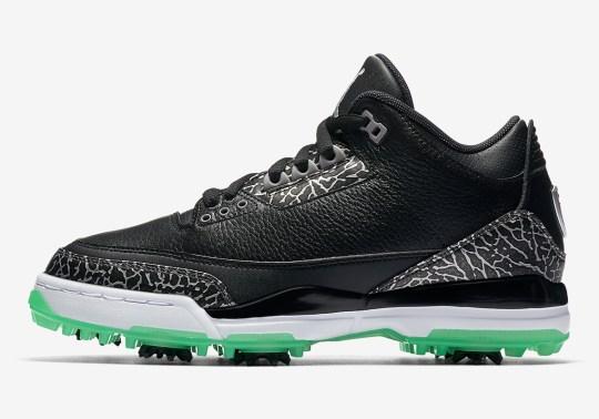 The Air Jordan 3 Golf Shoe Adds Green Glow