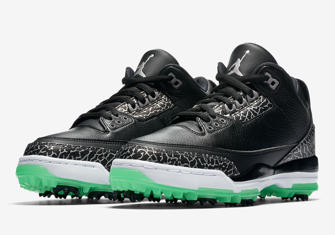 314e573242f0 Air Jordan 3 Golf Shoe Green Glow Release Info