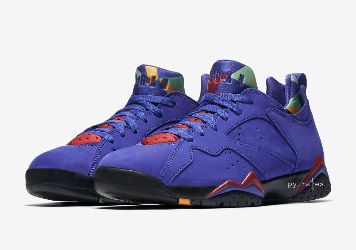 """newest collection 5e141 33b01 The Air Jordan 7 Low """"Bright Concord"""" Remixes The Wild Tongue Colors"""