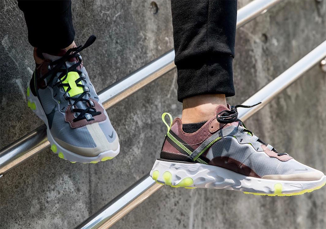 26d88fc0597e Both Nike React Element 87 options are set to release at select Swoosh  Brand retailers in Asia on August 14th and in Europe on the 16th.