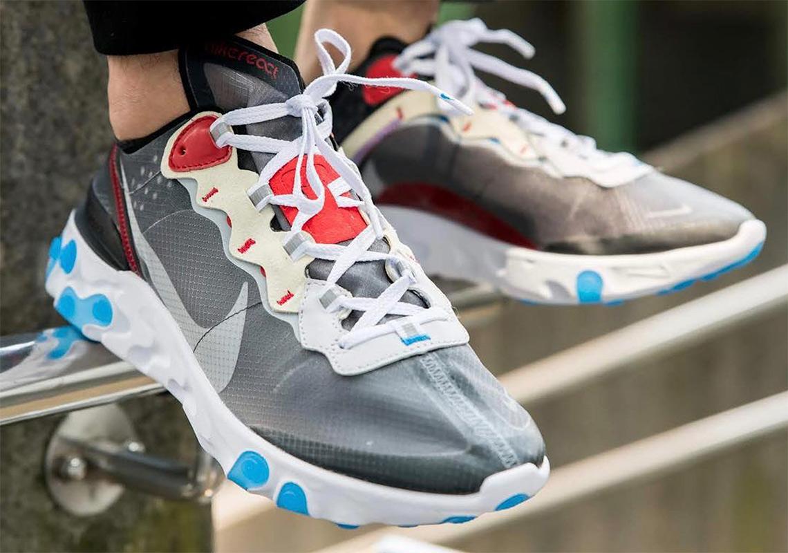 7fe791657f089 Nike React Element 87 Dark Grey Desert Sand Release Info ...