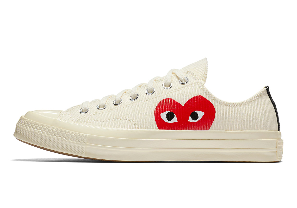 dbfa9e4c7281 Converse x Comme des GARÇONS Play Chuck 70 Low Top AVAILABLE AT Nike  135.  Color  Black White Red