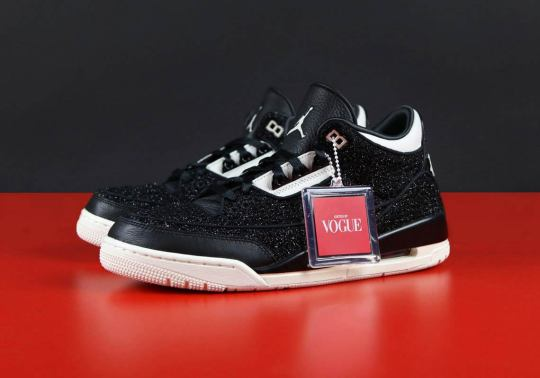 "A Detailed Look At The Vogue x Air Jordan 3 ""AWOK"" In Black"