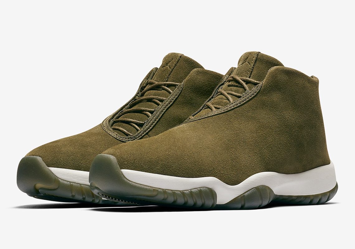 8756ad19366 Air Jordan Future Wmns AVAILABLE AT Nike UK £114.95. Color  Olive Canvas  Phantom Olive Canvas