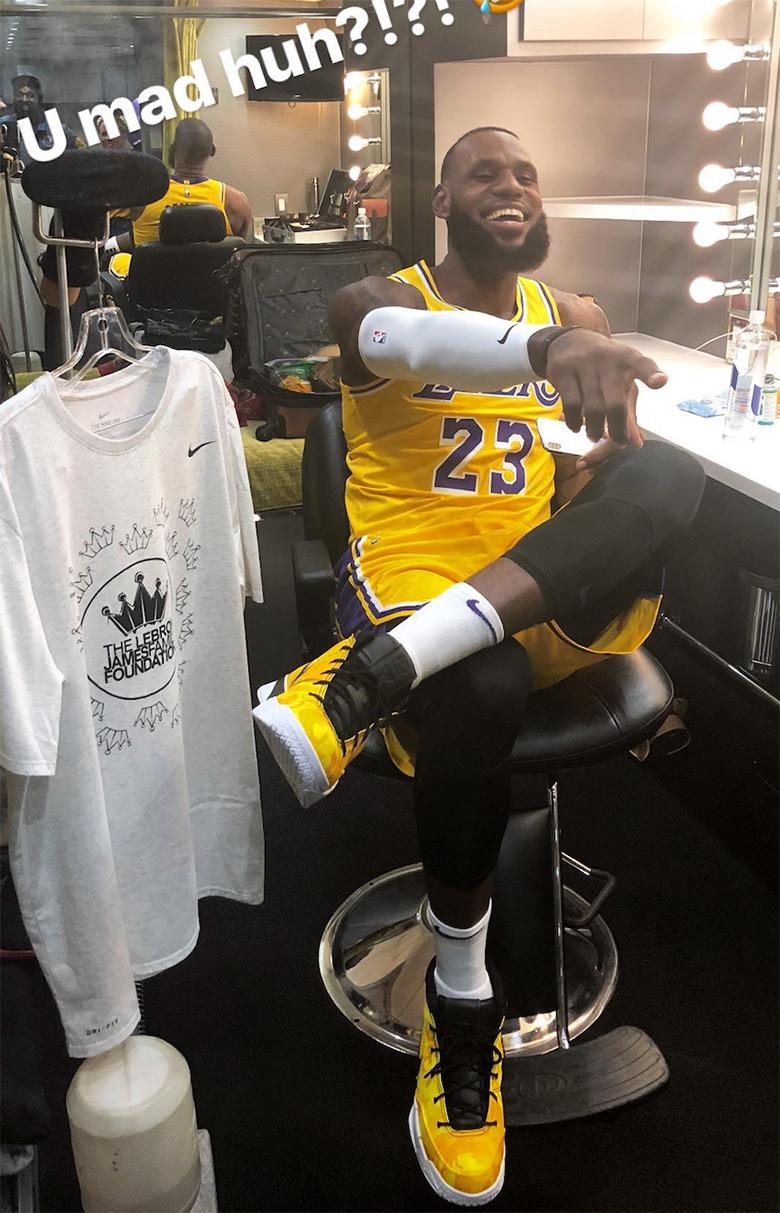 9cf61f11d4b LeBron James Nike Zoom Kobe 1 Protro Lakers Photos