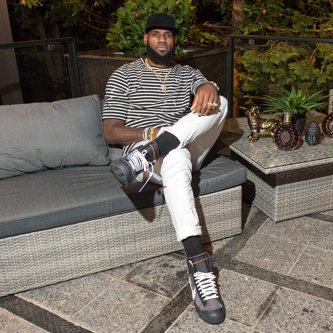LeBron James Off-White Nike Blazer