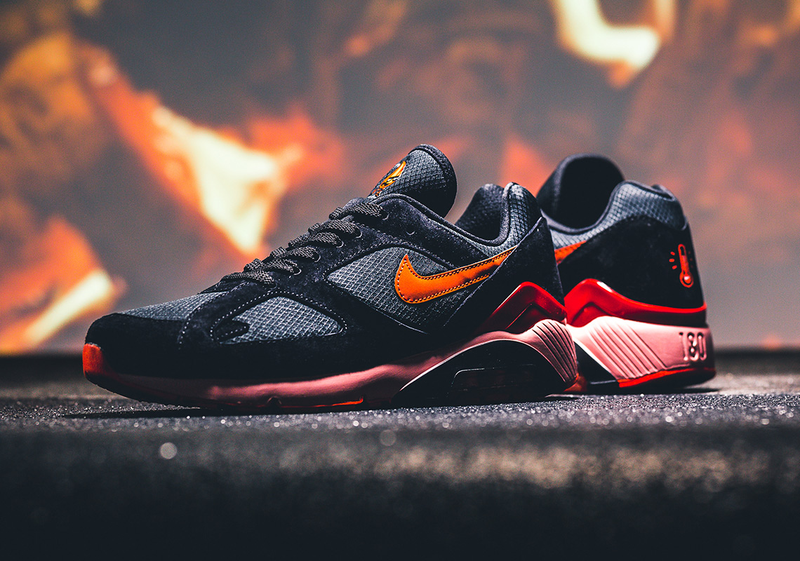 promo code 75813 9557b Nike Air 180. AVAILABLE AT 43einhalb €139.95. Color  Black Team  Orange-University Red