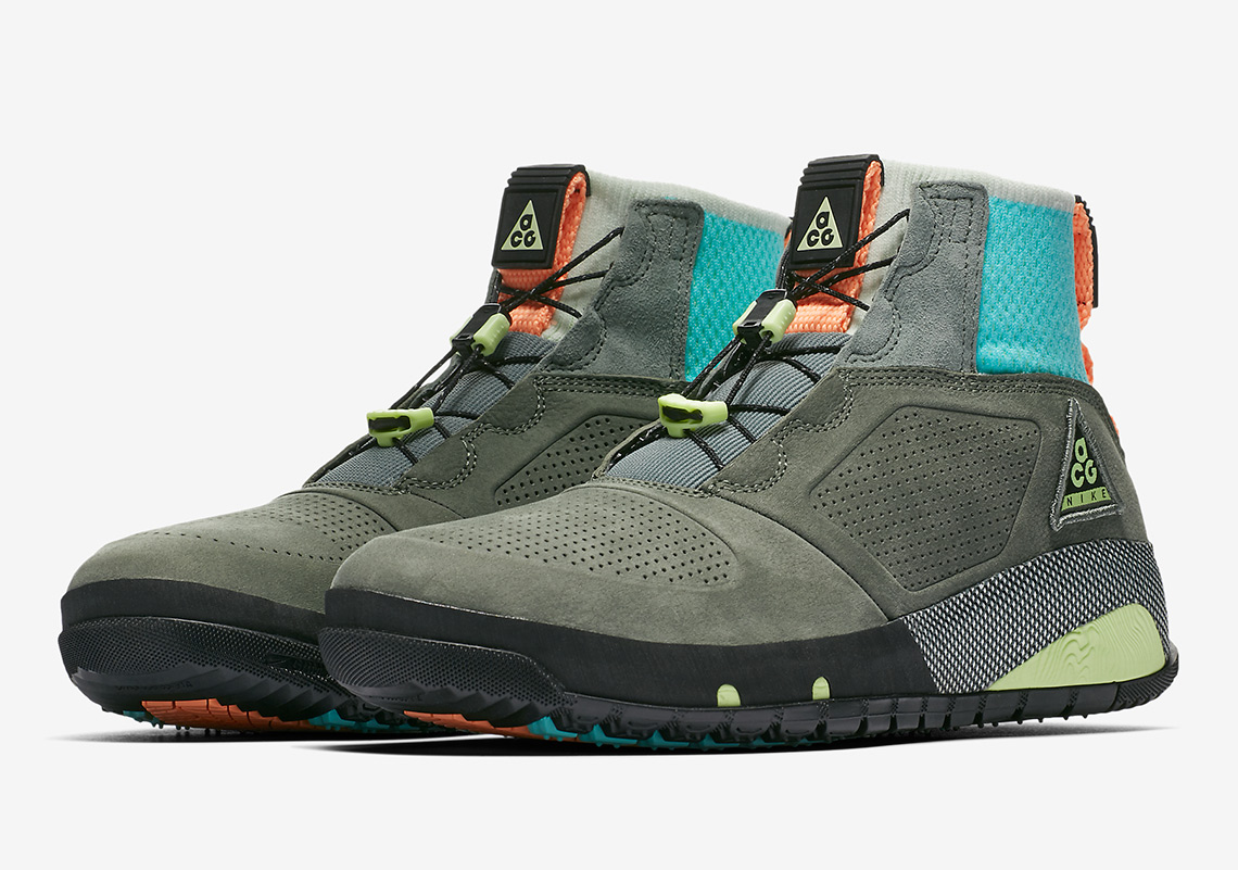best sneakers 0ee2e 09682 Nike ACG Ruckel Ridge  180. Color  Multi-Color Clay Green-Black-Barely Volt