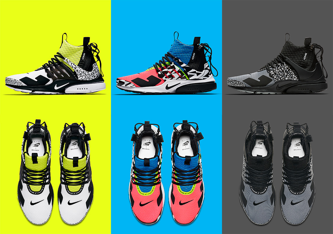new styles 502b8 864f6 Where To Buy The ACRONYM x Nike Presto Mid