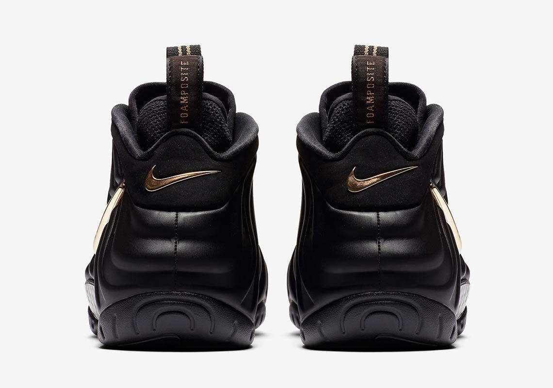 size 40 ab230 eea16 Nike Air Foamposite Pro Black Metallic Gold 624041-009   SneakerNews.com