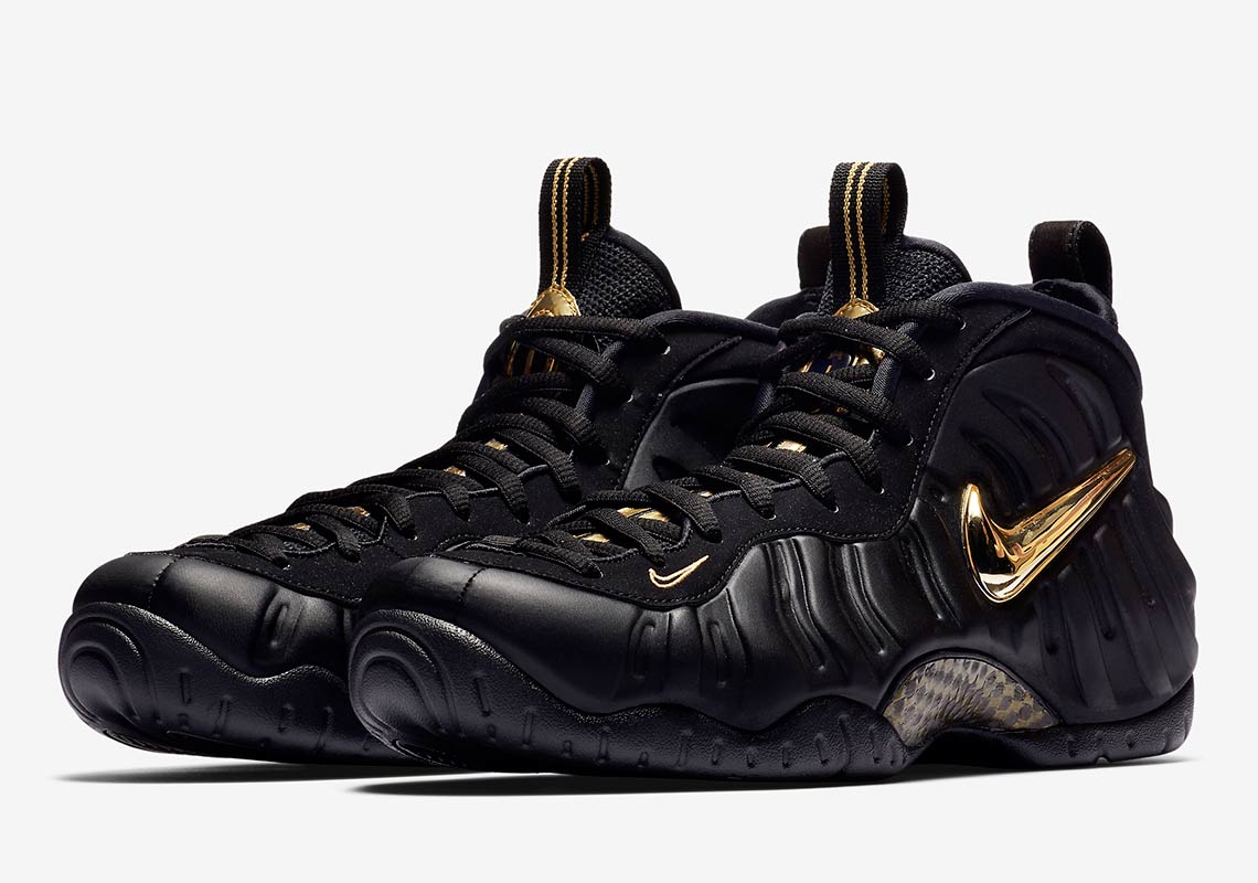 The Nike Air Foamposite Pro Adds Metallic Gold Detailing