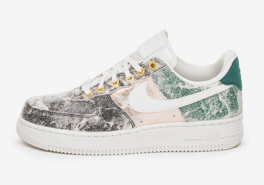 This Nike Air Force 1 Features Cracked Metallic Leather Uppers