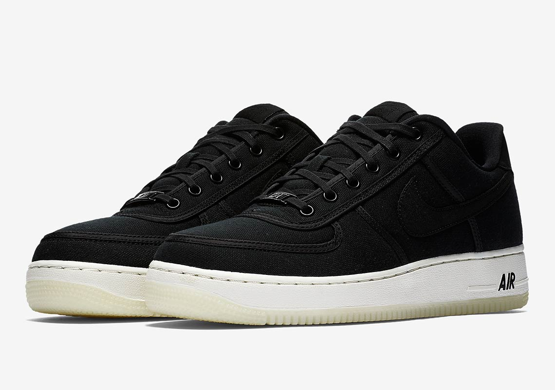 competitive price 3f219 72cd7 Nike Air Force 1 Low Retro QS CNVS Release Date  September 6, 2018.  AVAILABLE AT Nike UK Color  Black Black-Summit White