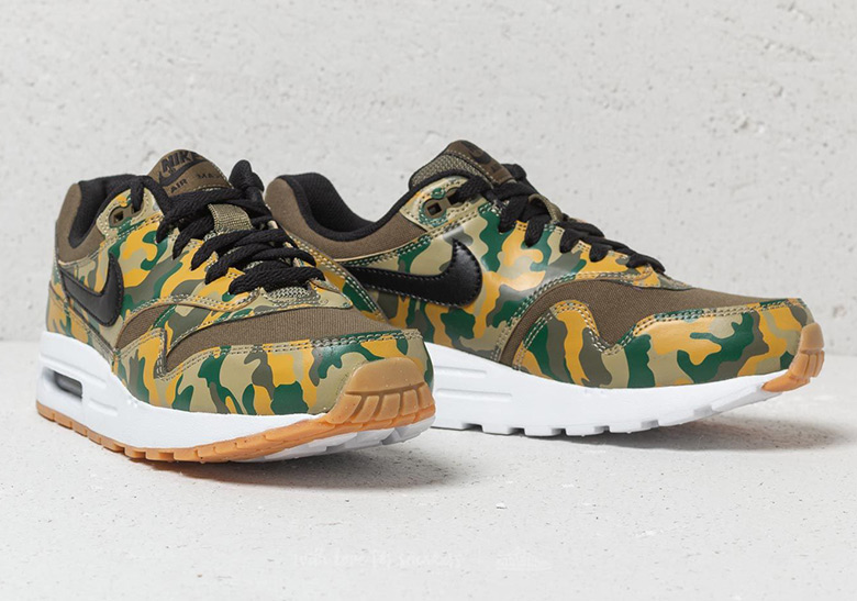 sports shoes 0bdc9 9a0f7 Nike Air Max 1 Olive Camo GS AR1139-200 Buy Now   SneakerNews.com