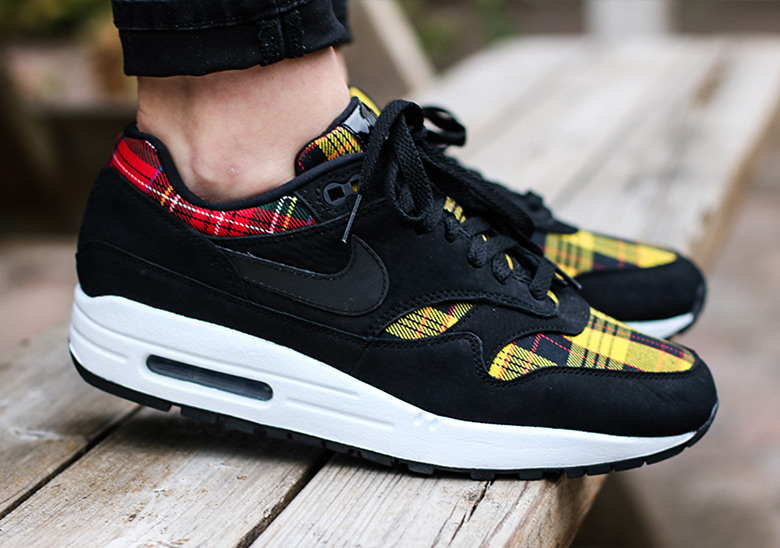 Details about Nike Wmns Air Max 1 SE Tartan Pack Black Red Yellow Womens Shoes AV8219 001