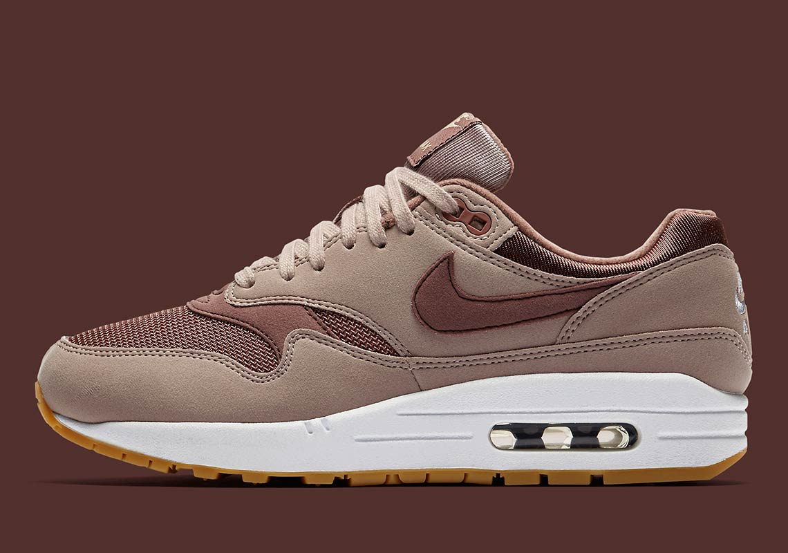 online retailer 01185 8d5ab Nike Air Max 1 Wmns AVAILABLE AT Nike UK £99.95. Color  Diffused Taupe Gum  Light Brown Smokey Mauve