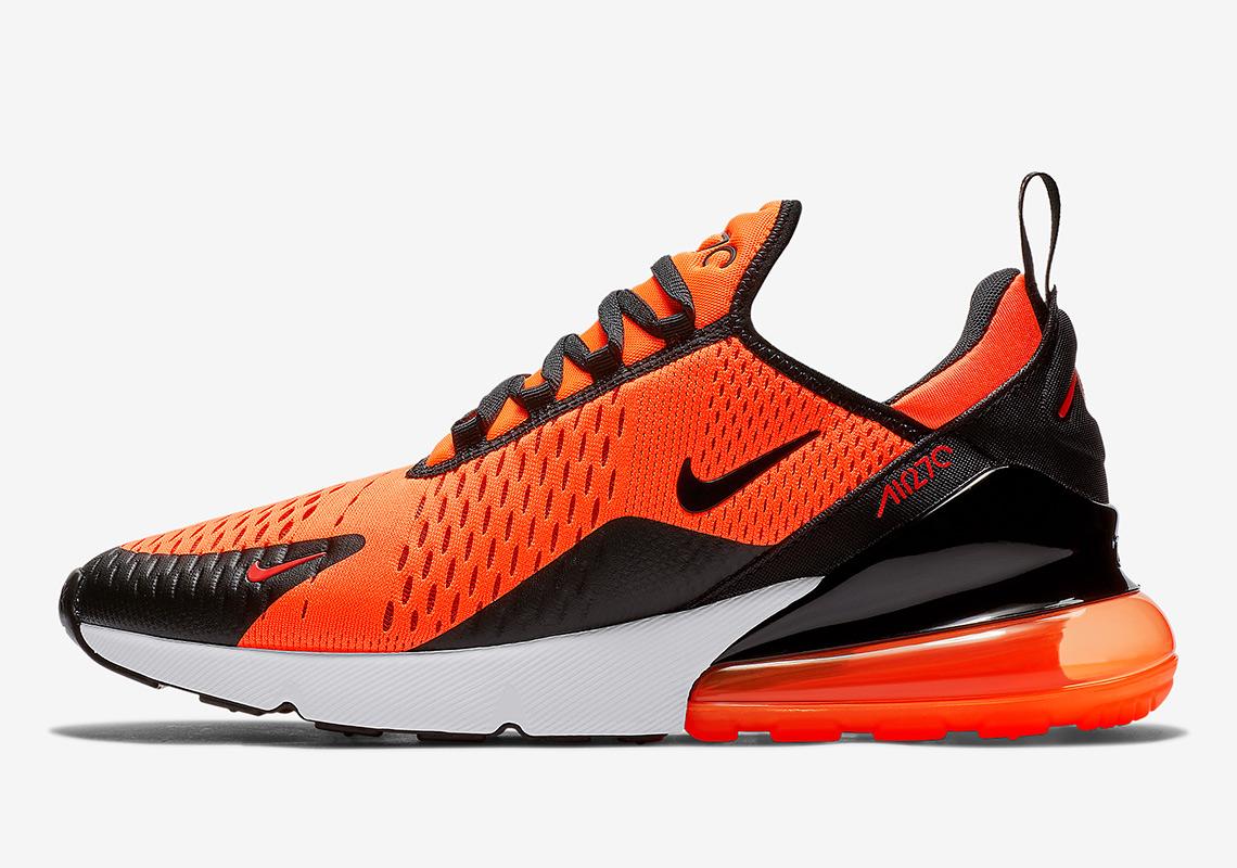 air max 270 orange black white