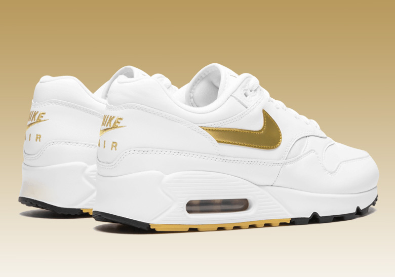 super popular 7bfaf 8dcf8 Nike Air Max 90 1 AJ7695-102 Metallic Gold Buy Now   SneakerNews.com