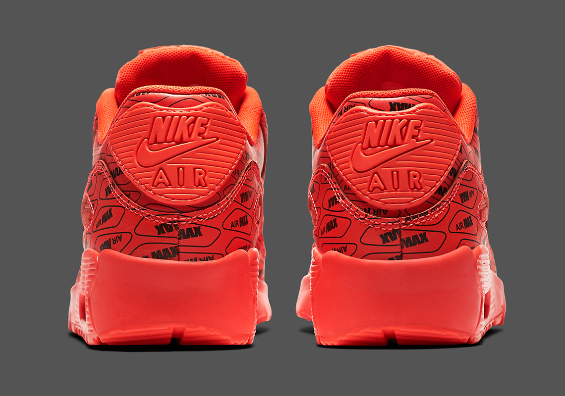 Nike Air Max 90 All Over Logo Red Black 859560 600 Available