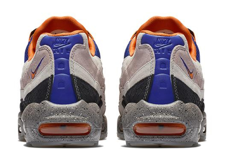 f38da88bb4 Nike Air Max 95. Release Date: September, 2018 $160. Color: Champagne/Safety  Orange-Sport Royal Style Code: AV7014-600. Advertisement. Advertisement