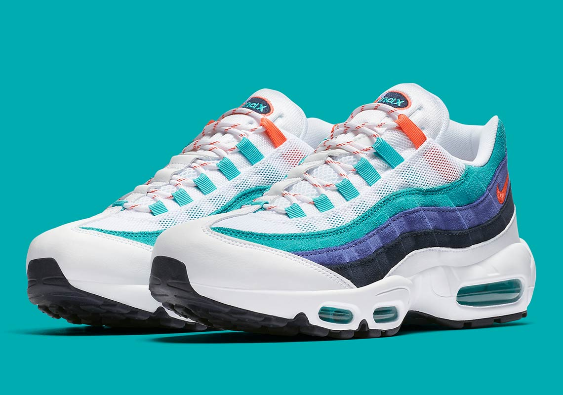 Nike Air Max 95  160. Color  White Flash Crimson Hyper Jade 5026de2d8