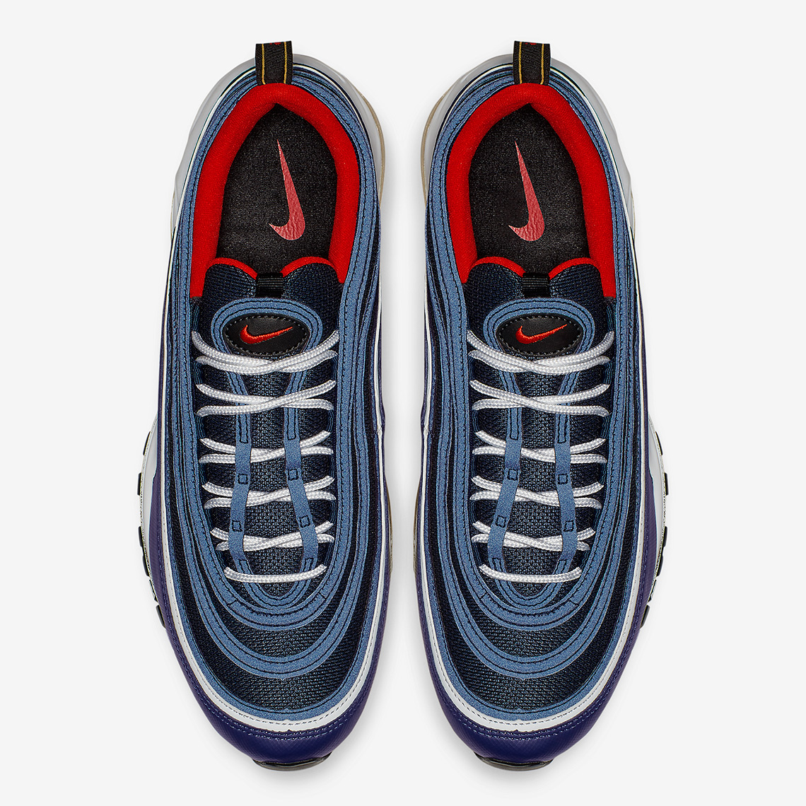 online retailer a957b df1a4 Nike Air Max 97. AVAILABLE AT Eastbay AVAILABLE AT Nike 160. Color  Midnight NavyHabanero Red-Black-White Style Code 921826-403