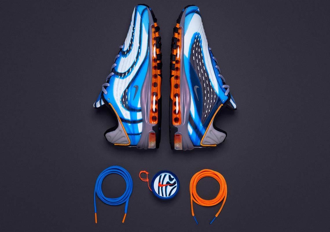 new styles 9ef3b 0cf95 Nike Air Max Deluxe Release Date  August 10, 2018. COMING SOON TO Nike  SNKRS  180. Color  Photo Blue Wolf Grey-Orange Peel-Black