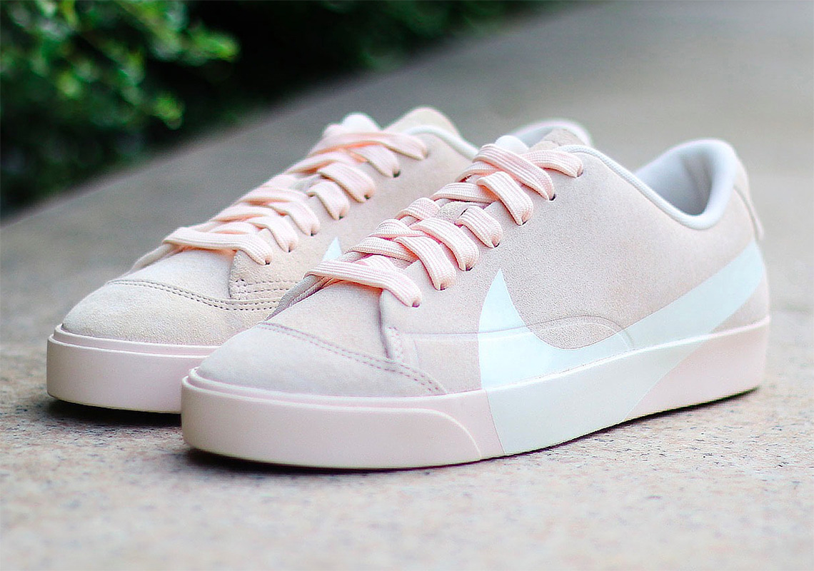 6f3e5b05171e The Big Swoosh ed Nike Blazer Arrives In Soft Pink