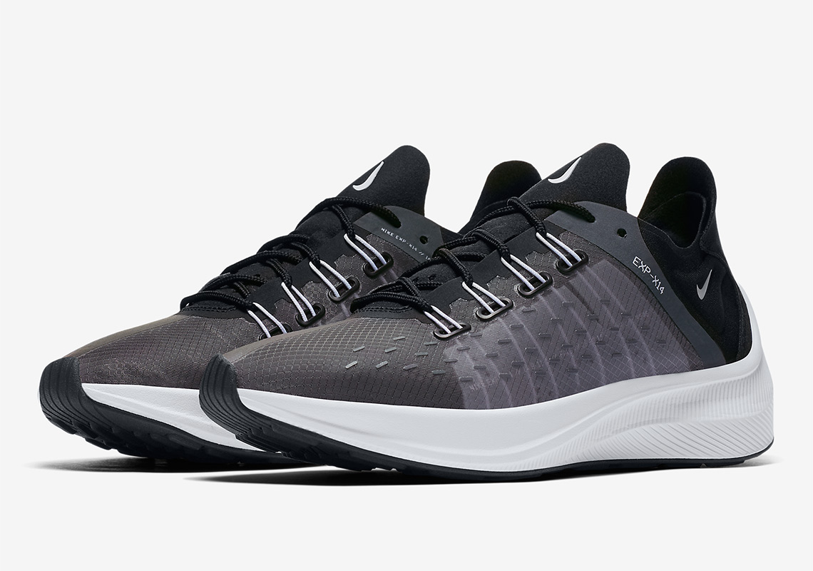 best sneakers da4a4 909e8 The Nike EXP-X14 Arrives In Black And Wolf Grey