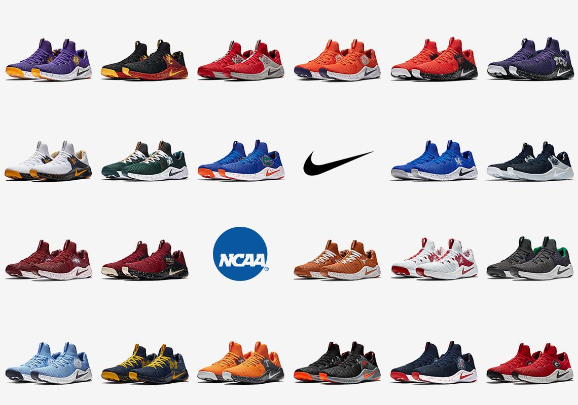 newest e42c5 1c10d 22 NCAA Football Teams Appear On The Nike Free TR8