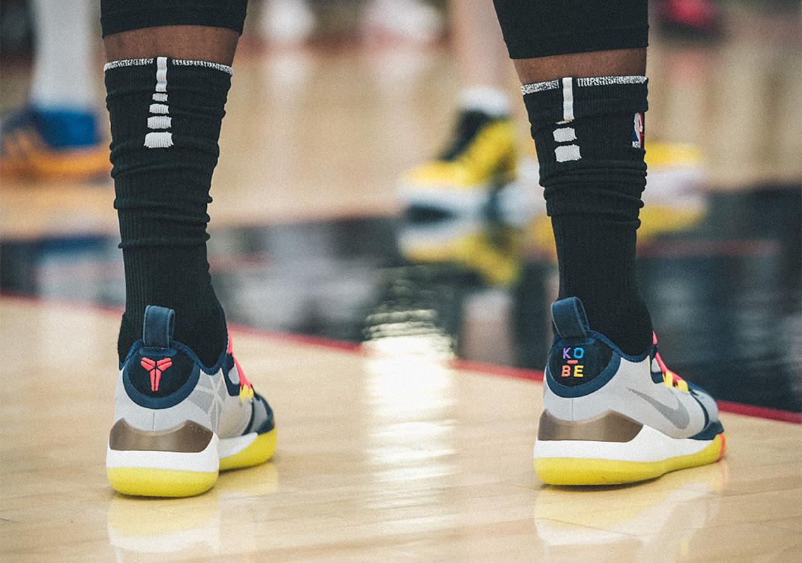 0b523c17c97ed6 Demar Derozan Debuts New Nike Kobe Signature Shoe At Drew League ...