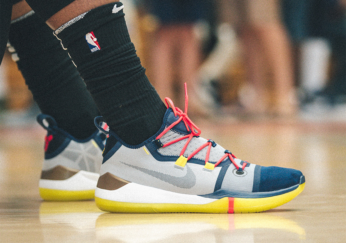 super popular 4a884 0798e Demar Derozan Debuts New Nike Kobe Signature Shoe At Drew League