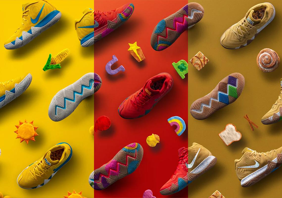 b32bcea3786a Lucky Charms Nike Kyrie 4 + Cinnamon Toast Crunch + Kix ...