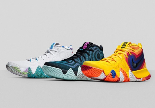 "The Nike Kyrie 4 ""Decades Pack"" Recalls The 70's, 80's, and 90's"