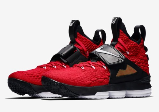 8b8e9a85886 Nike LeBron 15 Red Diamond Turf Edition