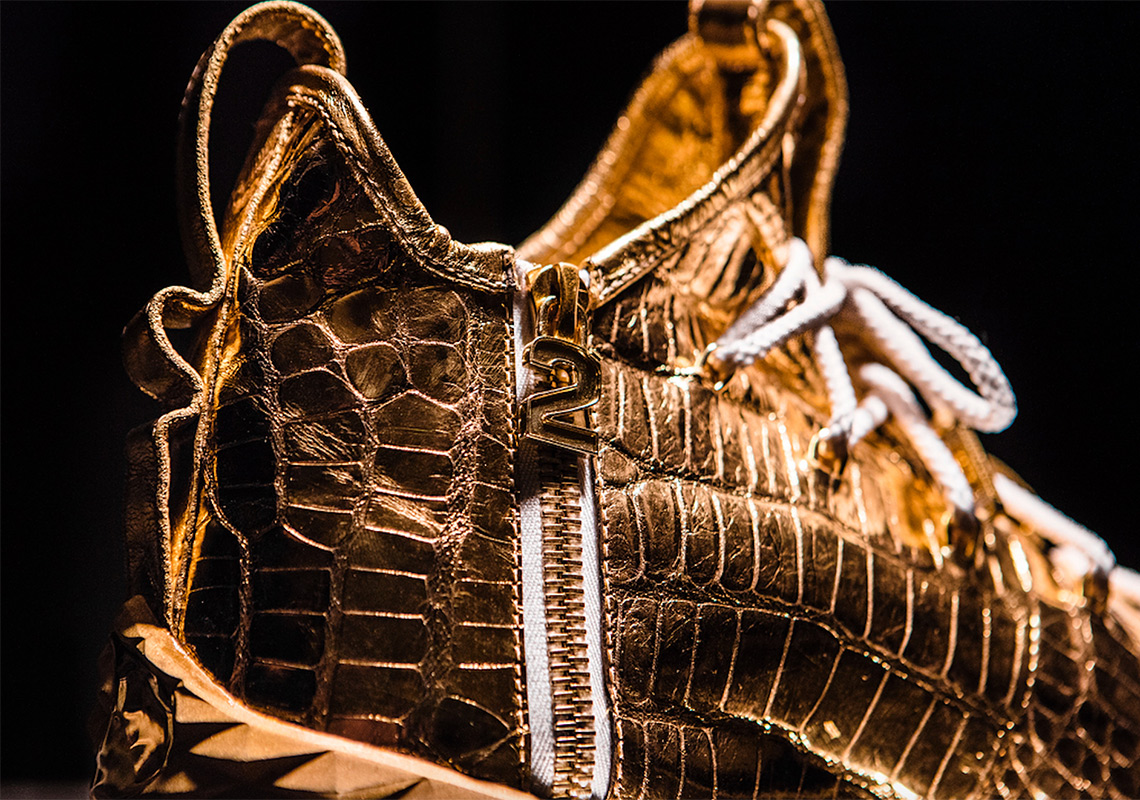 LeBron James Gold Diamond Shoes 30,000