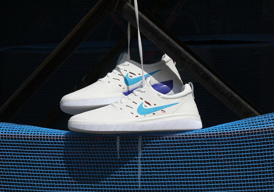 "84bd2b9223b07 Nyjah Huston s Nike SB Signature Shoe Arrives In ""Blue Fury"""