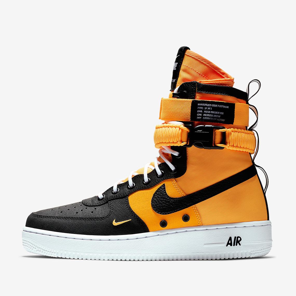 nike air force 1 arancioni