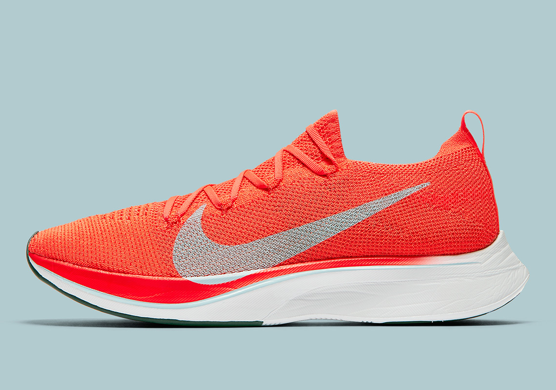 219fcea99cf9 Color  Bright Crimson Ice Blue Style Code  AJ3857-600. Where to Buy  Nike  Vaporfly 4% Flyknit. Nike Coming Soon  Eastbay Coming Soon