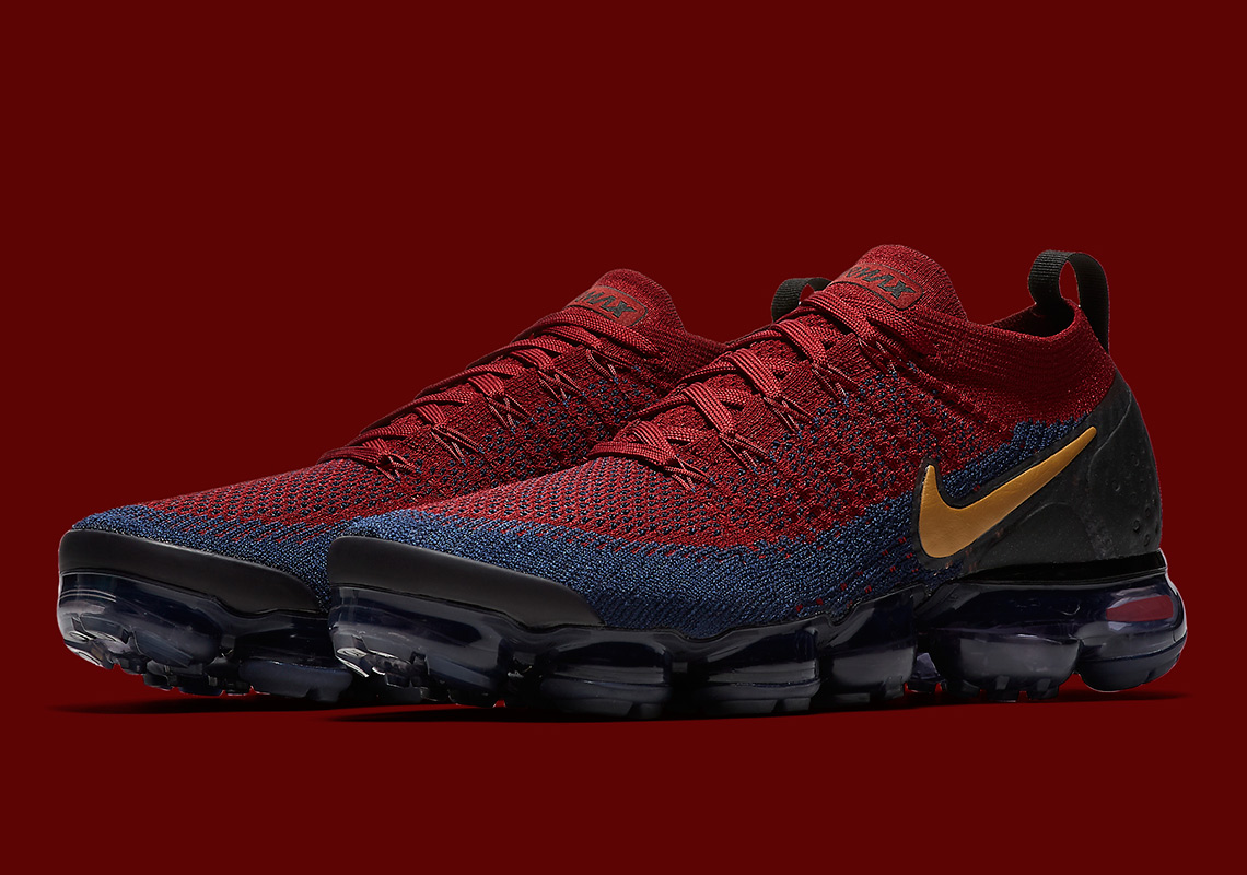 b06684ff77 Cavaliers Colors Arrive On The Nike Vapormax Flyknit 2
